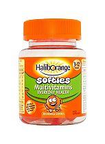 Seven Seas Haliborange Kids Multivitamin Fruit Softies 30 Orange Fruit Shapes