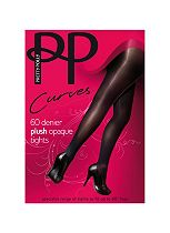 Pretty Polly Curves 60D Plush Opaque Tights