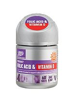 Boots Folic Acid & Vitamin D tablets - 60 tablets
