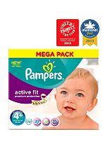 Pampers Active Fit Nappies Size 4+ Mega Box - 74 Nappies