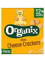 Organix Goodies Organic Mini Cheese Crackers 4 x 20g
