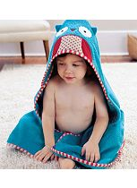 Skip Hop Zoo Hooded Towel Owl - Blue