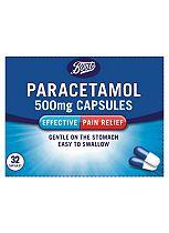 Boots Pharmaceuticals Paracetamol 500mg - 32 Capsules
