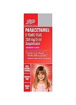 Boots Paracetamol 6 Years Plus - 250mg/5 ml Suspension Strawberry