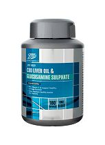 Boots  COD LIVER OIL & GLUCOSAMINE SULPHATE 6 MONTH SUPPLY 180 Capsules