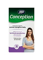 Boots CONCEPTION SUPPORT Folic Acid, Vitamin D, Zinc 30 Tablets