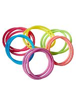 Scunci No slip glitter jelly elastics