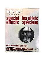 Nails Inc. Electric Lane Holographic Top Coat Nail Polish 10ml