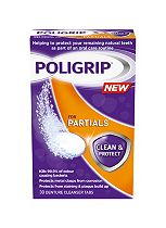Poligrip for Partials Clean & Protect, Denture Cleanser tablets - 30 tablets