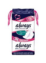 Always Silk Collection Softer + Perfume Free Normal with Wings 26 Pads