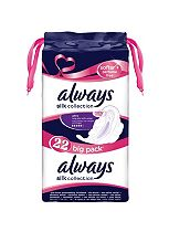 Always Silk Collection Softer + Perfume Free Long Sanitary Towels with Wings x22 Pads