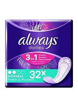 Always Dailies Pantyliners Normal 32 Liners