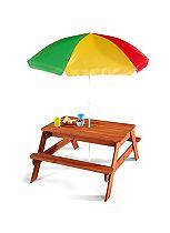 Plum® Children's Garden Picnic Table with parasol