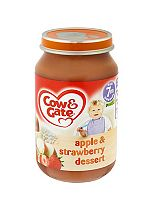 Cow & Gate Apple & Strawberry Dessert from 7m Onwards 200g