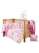 Clair de Lune Lottie & Squeek Cot Bed Quilt & Bumper
