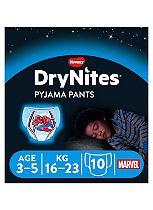 Huggies DryNites Pyjama Bed Wetting Pants Boys  3-5 Years - 10 Pants