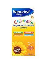 Benadryl Allergy Relief Children's Oral Solution - 100ml