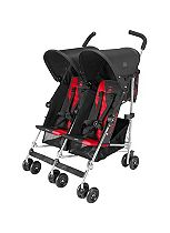 Maclaren Twin Triumph Pushchair - Charcoal & Scarlet