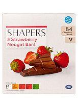 Shapers 5 Strawberry Nougat Bars