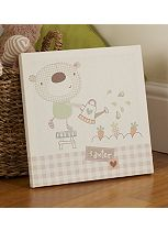 Bed-e-Byes Baxter & Rosie Wall Canvas - Baxter the bear