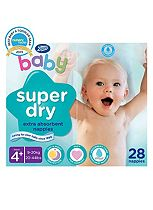Boots Super Dry Nappies Size 4+ Maxi Plus Carry Pack - 1 x 28 Nappies