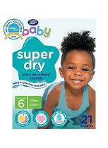 Boots Baby Super Dry Nappies Size 6 Extra Large Carry Pack - 21 Nappies