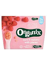Organix Apple & Raspberry with Pieces 7+ Months Stage 2 4 x 95g