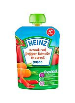 Heinz 4+ Months Sweet Red Pepper, Tomato & Carrot Puree 100g