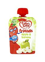 Cow & Gate Apple & Banana 100% Fruit with Vitamin C from 4-6 Months 80g
