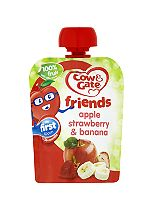 Cow & Gate Apple, Strawberry & Banana 100% Fruit with Vitamin C from 4-6 Months 80g