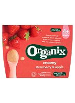 Organix 4m+ Creamy Strawberry & Apple Yogurt 4 x 95g