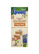 Organix Goodies Savouries 15 Organic Crackers Poppy Seed 115g