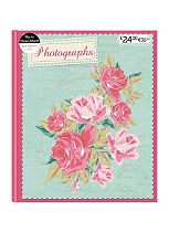 Mint & pink flowers 7x5 album 25 sheets