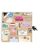 Anker Travel Tickets Scrapbook Album - 20 Sheets