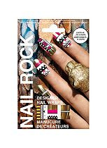 Nail Rock Designer Nail Wraps - Gold Tribal
