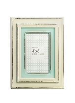 Juliana Home Living Distressed Cream and Duck Egg Photo Frame - 4x6