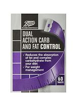 Boots Pharmaceuticals Dual Action Carb and Fat Control - 60 tablets