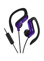 JVC Sport Ear Clip Headphones with Remote and Microphone in Blue