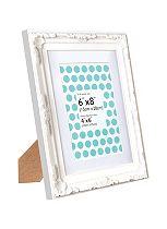 Anker Decorative White Photo Frame - 6 x 8  / 4 x 6