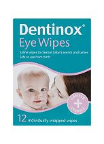 Dentinox Eye Wipes 12 Individually Wrapped Wipes