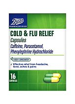 Boots Pharmaceuticals Cold & Flu Relief Capsules - 16