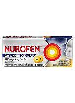 Nurofen Day & Night Cold & Flu 200mg/5mg - 16 Tablets