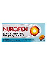 Nurofen Cold & Flu Relief 200mg/5mg - 16 Tablets