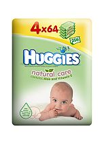 Huggies® Natural Care Baby Wipes Quad Pack - 4 x 64Pack Wipes