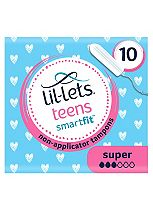 Lil-Lets teens Non-Applicator Tampons Super 10 Pack