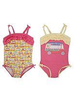 Mini Club Girls 2 Pack Swimsuits