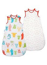 Gro Company Grobag Twin Pack - Spotty Bear - 6-18 months 2.5 tog