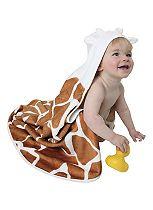 Cuddledry Safari Toddler Towel - Giraffe
