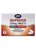Boots Pharmaceuticals Ibuprofen Caplets 200mg - 96 Caplets