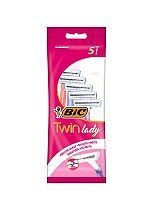 BIC® Disposable Razor Twin Lady pouch 5 Pack